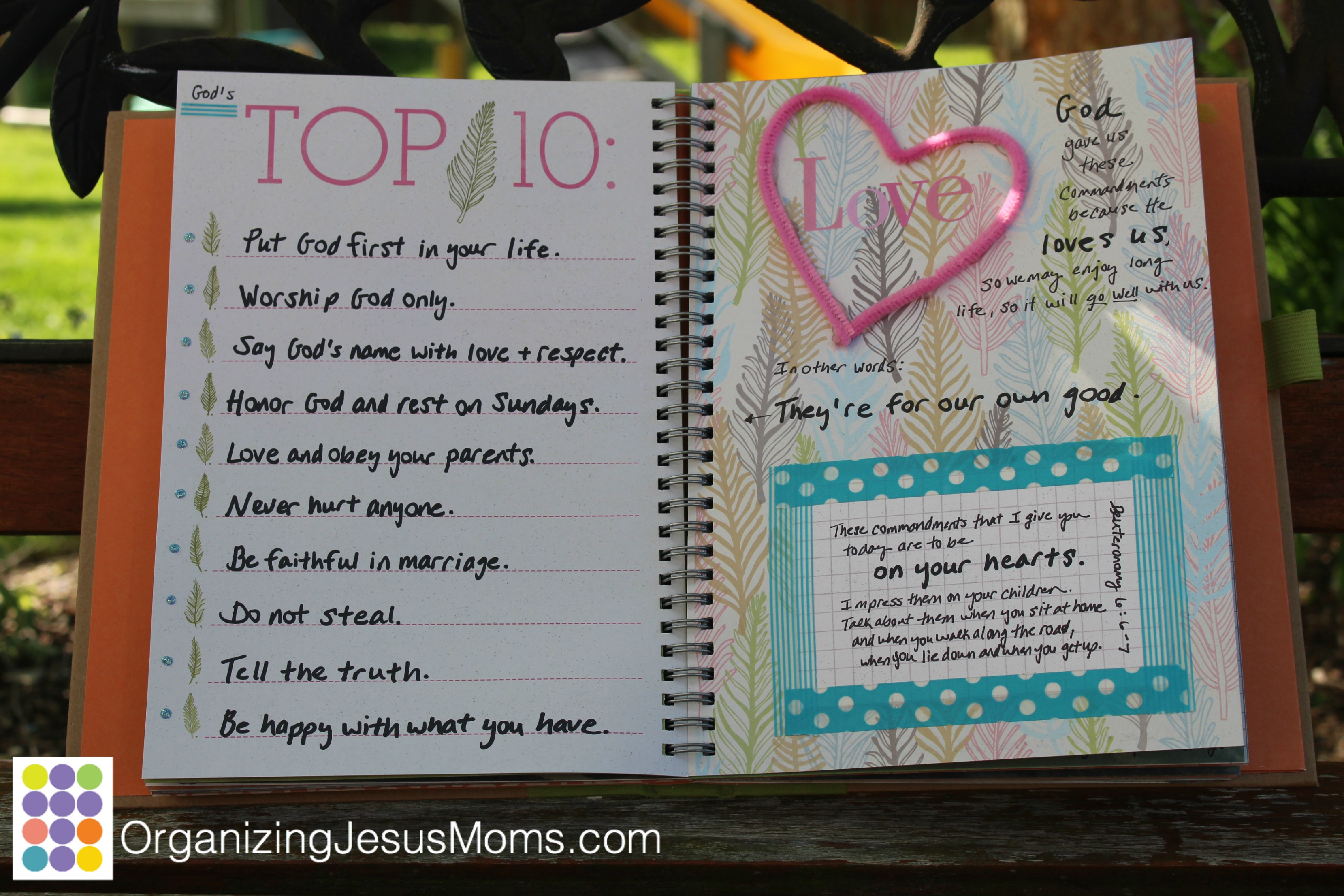 scripture-scrapbook- ten-commandments