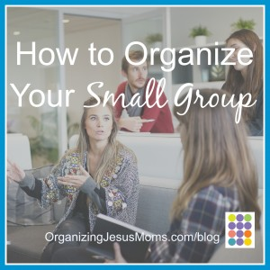 How to Organize Your Small Group Pin